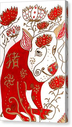 Chinese Year Of The Pig Canvas Print