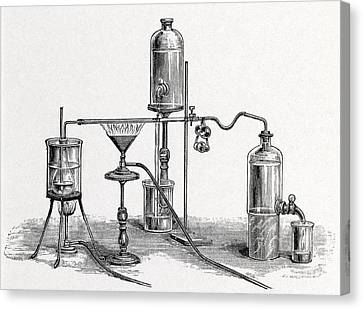 Chloroform Analysis, 19th Century Artwork Canvas Print by Middle Temple Library