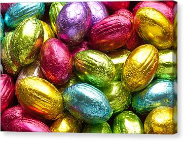 Chocolate Easter Eggs Canvas Print by Hans Engbers
