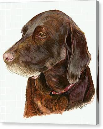 Chocolate Labrador Canvas Print by Deb Gardner