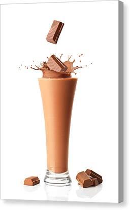 Chocolate Milkshake Smoothie Canvas Print by Amanda Elwell
