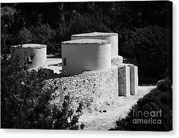 Choirokoitia Ancient Neolithic Village Settlement Republic Of Cyprus Canvas Print by Joe Fox