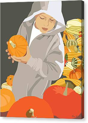 Choosing A Pumpkin Canvas Print