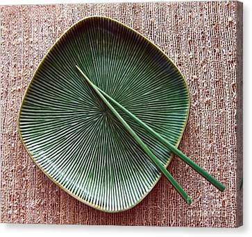 Canvas Print featuring the photograph Chopsticks by Denise Pohl