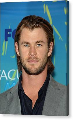 Chris Hemsworth In The Press Room Canvas Print by Everett