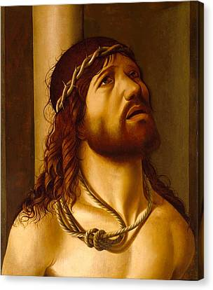 Christ At The Column Canvas Print by Antonio de Saliba