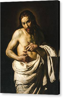 Christ Displaying His Wounds Canvas Print by Giacomo Galli