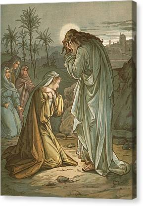 Christ In The Garden Of Gethsemane Canvas Print by John Lawson