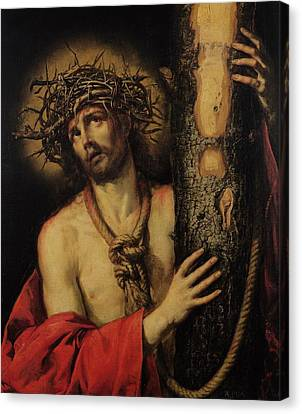Christ Man Of Sorrows Canvas Print by Antonio Pereda y Salgado