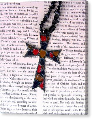 Christian  Cross Canvas Print by Cynthia Amaral