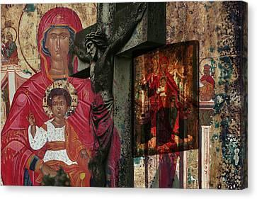 Christian Symbols Canvas Print