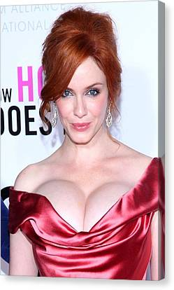 Christina Hendricks At Arrivals For I Canvas Print by Everett