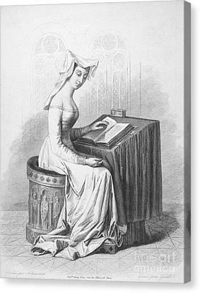 Decolletage Canvas Print - Christine De Pisan by Granger
