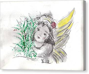 Christmas Angel Canvas Print by Laurie L