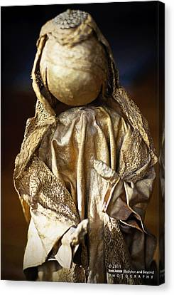Gold Lame Canvas Print - Christmas Angel by Vicki Jauron