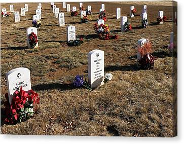 Christmas At Fort Bayard National Cemetery Canvas Print by FeVa  Fotos