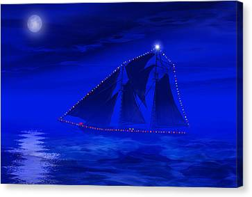 Christmas At Sea Canvas Print by Carol and Mike Werner
