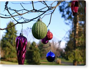 Christmas Baubles Canvas Print by Richard Reeve