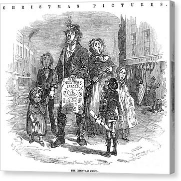 Christmas Carolers, 1874 Canvas Print by Granger
