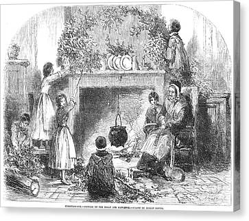 Christmas Eve, 1855 Canvas Print by Granger