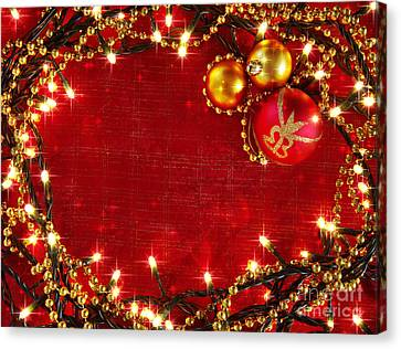 Christmas Frame Canvas Print by Carlos Caetano