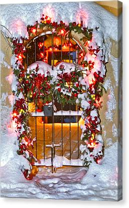 Christmas Gate Canvas Print