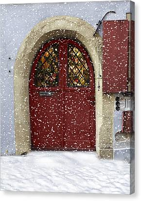 Christmas In Germany Canvas Print by Cecil Fuselier