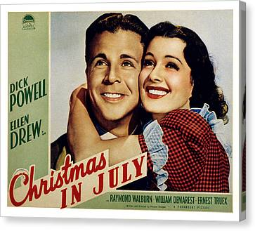 Sturges Canvas Print - Christmas In July, Dick Powell, Ellen by Everett