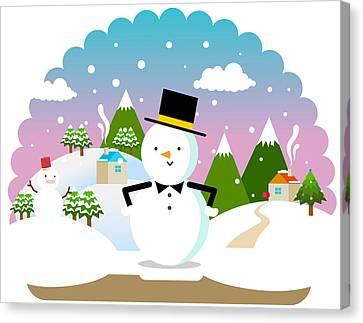 Christmas Landscape Canvas Print