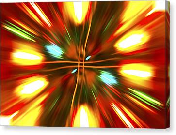Canvas Print featuring the photograph Christmas Light Abstract by Steve Purnell