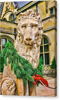 Christmas Lion At Biltmore Canvas Print