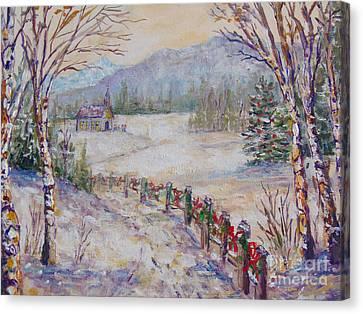 Christmas Canvas Print by Lou Ann Bagnall