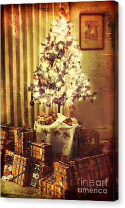 Christmas Morning Canvas Print by HD Connelly