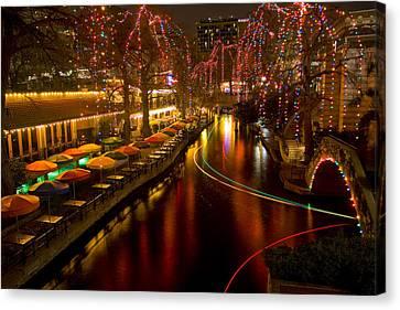 Christmas On The Riverwalk 2 Canvas Print