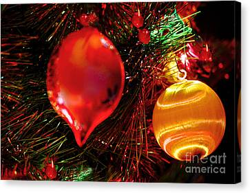 Christmas Ornament Decoration Canvas Print by Carol F Austin