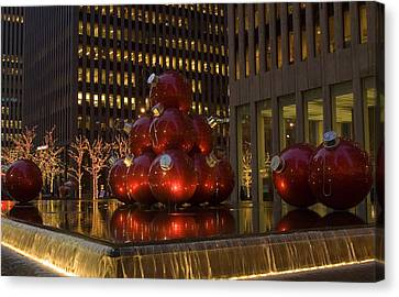 Christmas Ornaments Nyc Canvas Print by Diane Lent