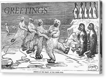 Christmas: Polar Bears Canvas Print by Granger