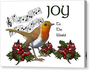 Christmas Robin Canvas Print by Joyce Geleynse