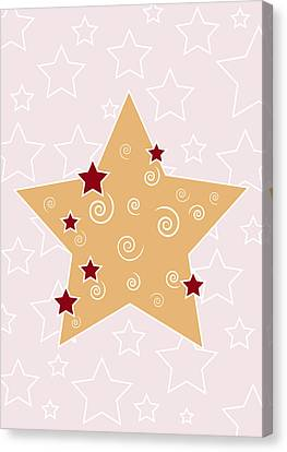 Christmas Star Canvas Print by Frank Tschakert