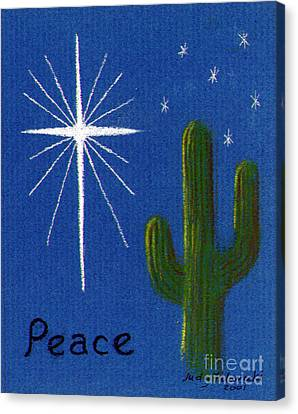 Christmas Star Greeting Card Canvas Print by Judy Filarecki