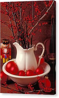 Christmas Still Life Canvas Print by Garry Gay