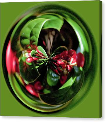 Christmas Time Orb Canvas Print