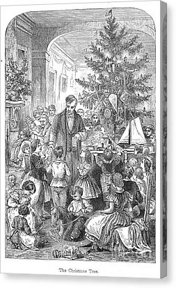 Christmas Tree, 1870 Canvas Print by Granger