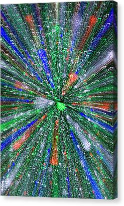 Christmas Tree Abstract-i Canvas Print by Dennis Tarnay Jr