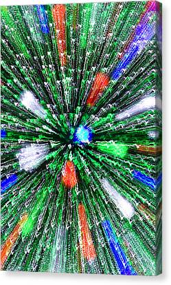 Christmas Tree Abstract-iii Canvas Print by Dennis Tarnay Jr