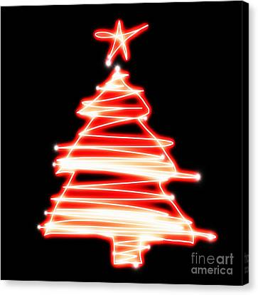 Christmas Tree Lighting Canvas Print