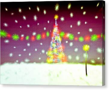 Christmas Tree Canvas Print by Tom Gowanlock