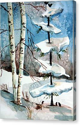 Christmas Twitters Canvas Print by Mindy Newman