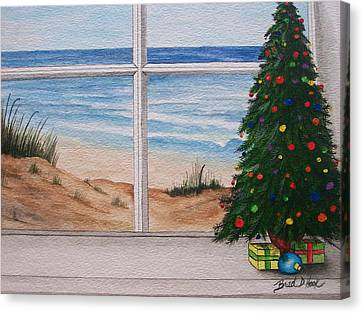Christmas Window Canvas Print by Brad Hook