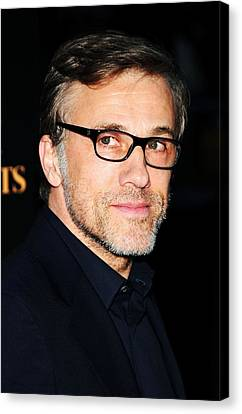 Christoph Waltz At Arrivals For Water Canvas Print